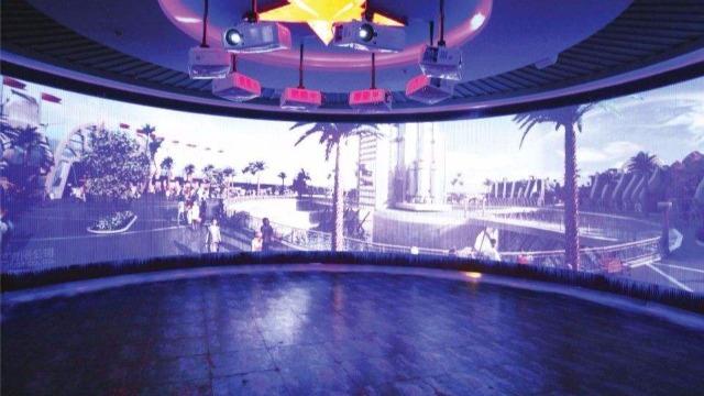 多媒体展厅设计中的环幕投影