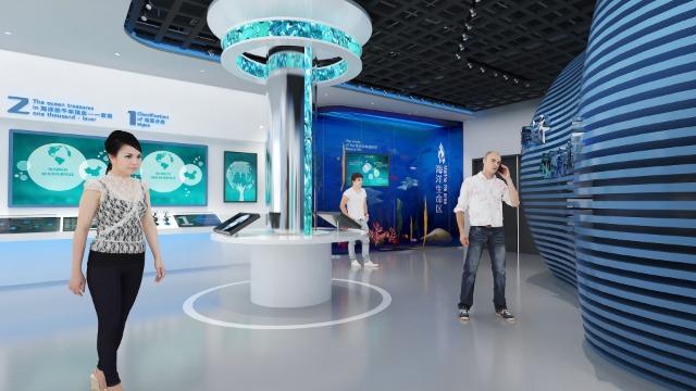 企业展厅设计施工安装细节