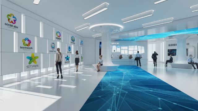 从不同的角度来展示数字多媒体展厅设计的效果