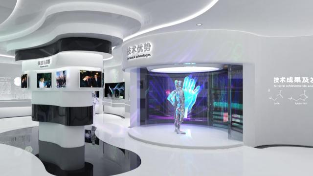 未来的医疗展厅,智慧科技展馆设计