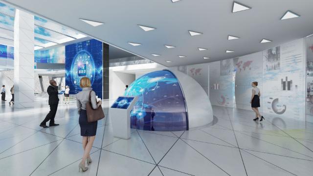 智慧展厅设计对展品的陈列有哪几种方式