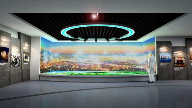 智慧展厅设计怎样突出公司文化?